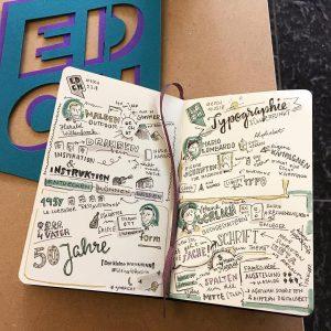 """Zusammenfassung eines Konferenztags auf der EDCH 2018 von Sketchnoterin """"kleiner W4hnsinn"""""""