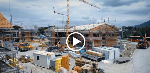 Drohnenflug über die infomax-Baustelle im Juli 2019